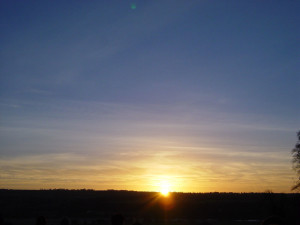 Midwinter Solstice Sunrise from outside Newgrange
